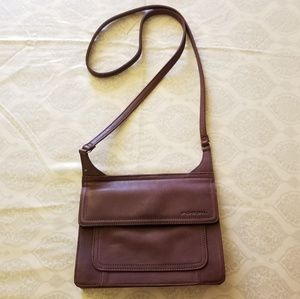 Fossil small leather crossbody purse